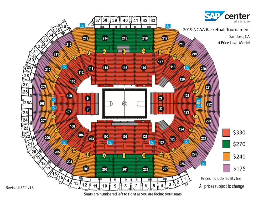 San Jose Bmw >> 2019 NCAA Men's Division I Basketball Championship First and Second Rounds | SAP Center