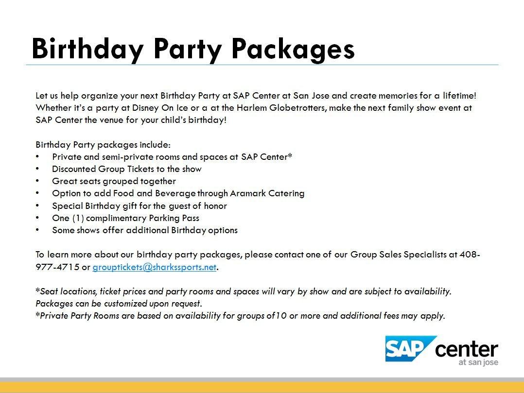 Group Discounts | SAP Center