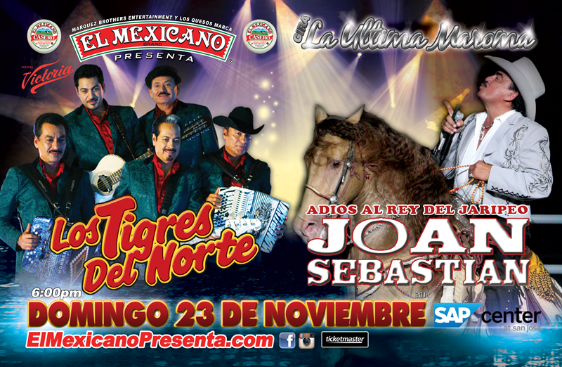 Joan Sebastian, Los Tigres del Norte & Ramon Ayala | SAP Center