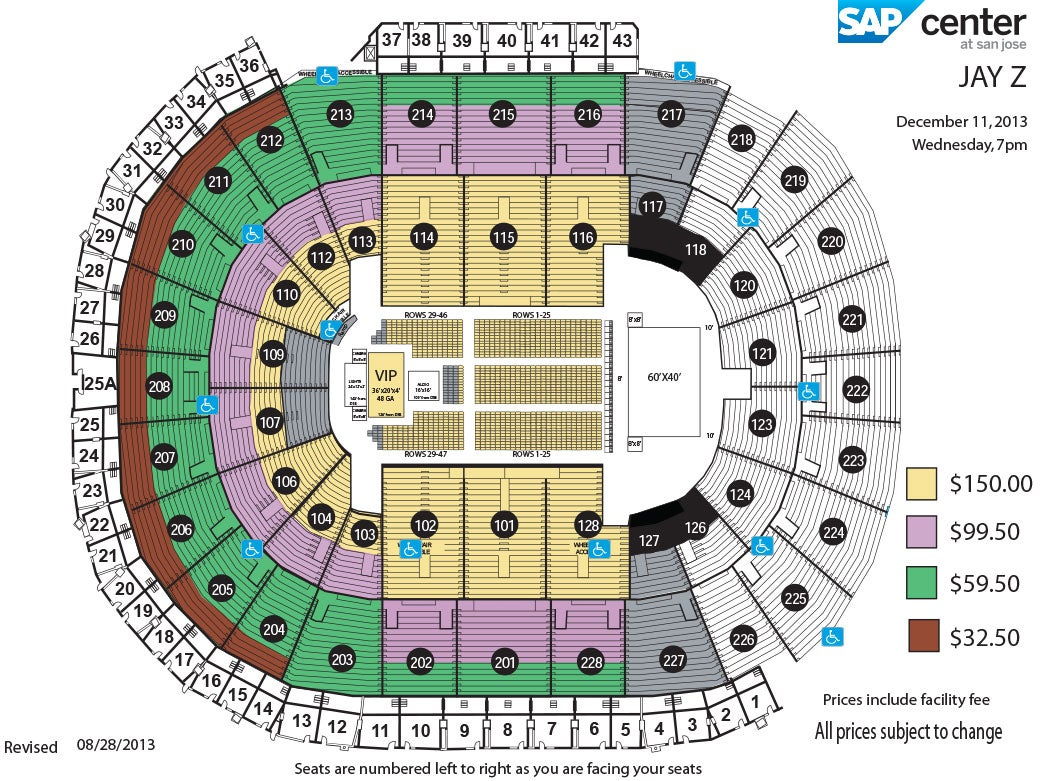 Jay Z | SAP Center Sap Center Seating Map on sap center tickets, sap center san jose, sap center twitter, sap center santa clara, sap concert seating, sap center suites, sap center hotels, sap seating-chart hockey, sap theater seating, sap center events, sap center parking, sap center sharks seating-chart, sap center schedule,