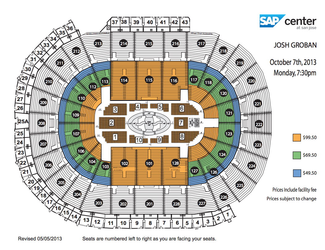 Verizon Center Floor Plan View Seating Chart