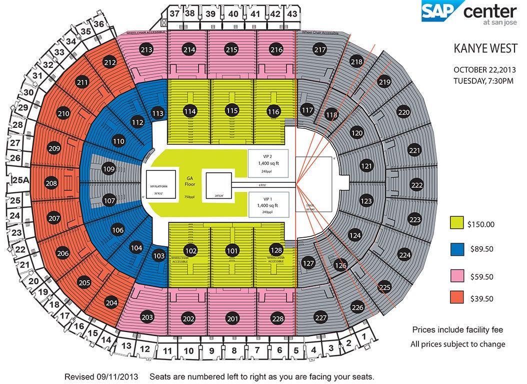 Sharks Seating Chart 55 Inch Tv Ratings