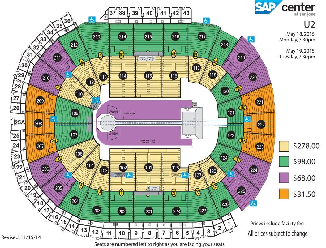 U2 Innocence Experience Tour 2015 Sap Center