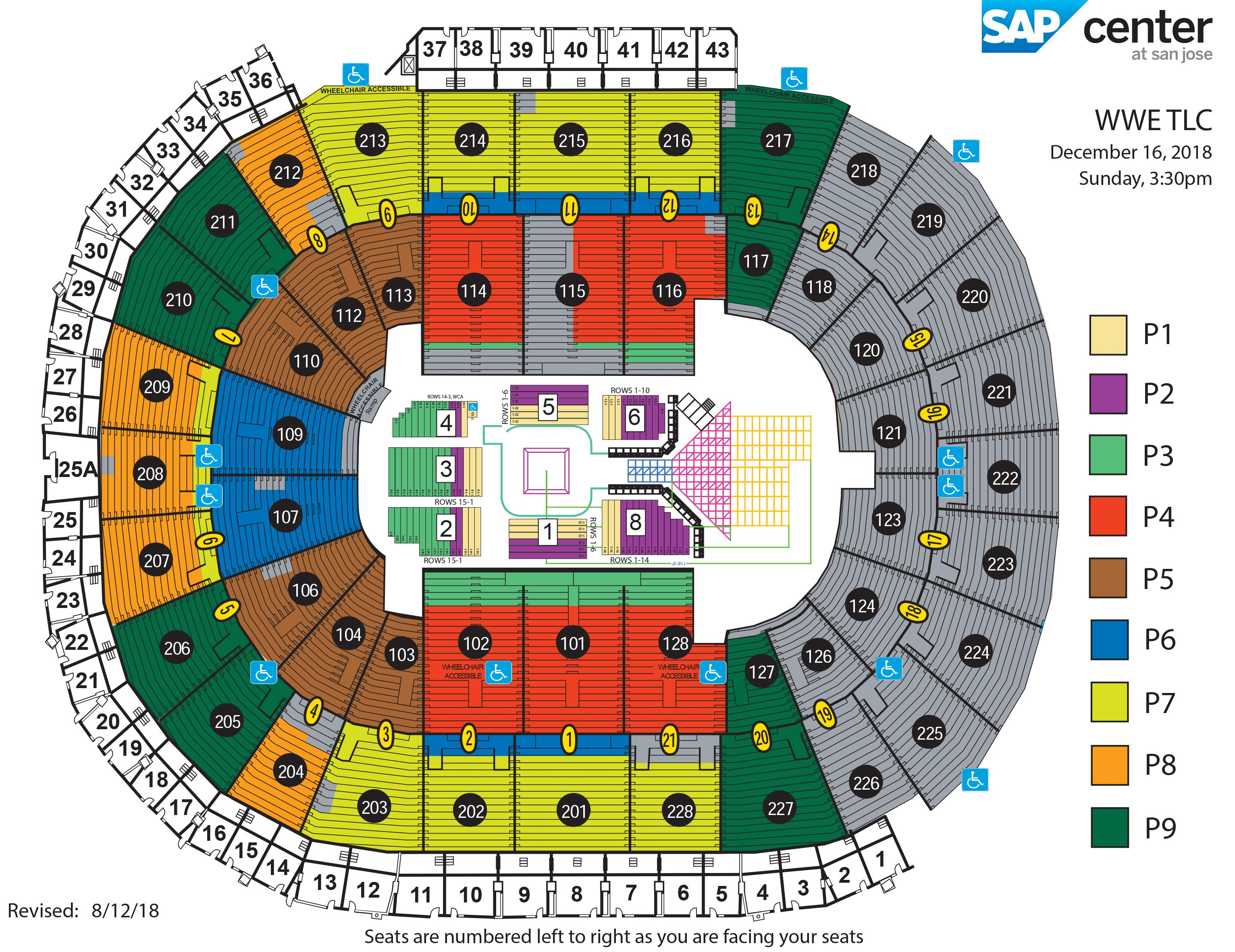 WWE Tables, Ladders & Chairs | SAP Center