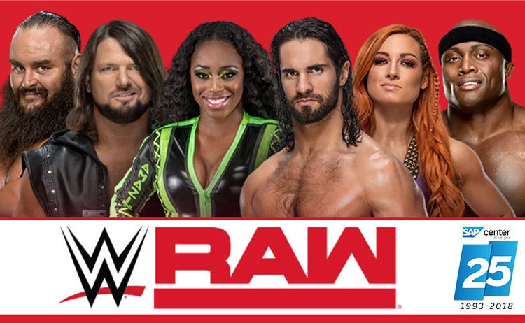 huge inventory 6c22f d8a62 WWE Monday Night Raw   SAP Center