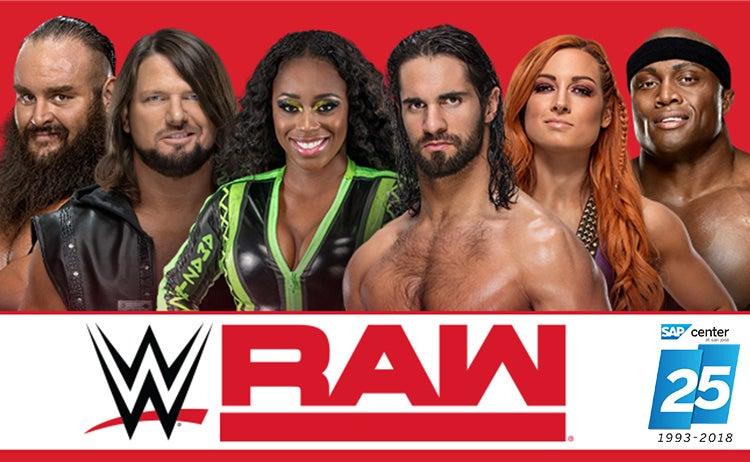 huge inventory 0405b c7b5e WWE Monday Night Raw   SAP Center