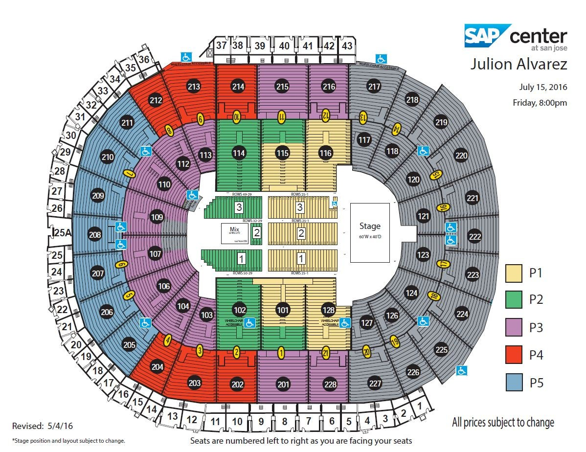 mandalay bay events center seating chart view